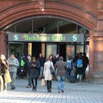 S-bahn Station, 2 minutes away, tram station thru walkway