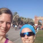 Me and guide at Arc De Triomf