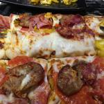 Tomato & Cheese Flatbread with sausage