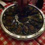 Moules sauces escargot! Un délice!
