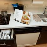 Enjoy cooking from your own suite