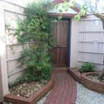 The enclosed private courtyard