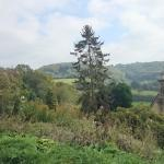 The countryside outside the Woolpack Inn