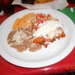 shredded beef Enchilda Rojas