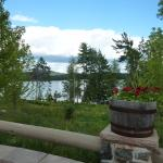 Lodge Patio looking out to Upper Lake Saranac