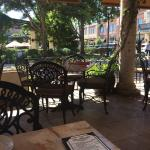 Margarita nachos outdoor dining