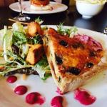 Goats cheese tart, coleslaw and salad at Madison's