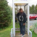 A public phone booth on PEI