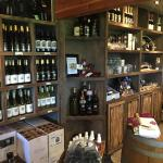 Wine and stuff for sale inside