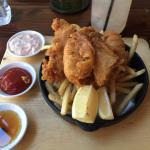 Fish and chips ('small plate'- but plenty!)