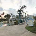 ポリネシアンショーはホテルのプールサイドで開催