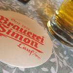 Leckeres Bier zu sehr gutem Essen