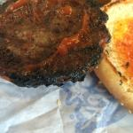 Burnt burger