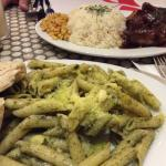 Hickory barbecue ribs & Pasta verde