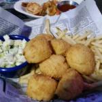Fried Scallops w/ Grilled Shrimp (add on)