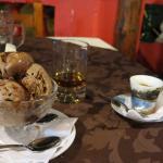 Ice cream, rum and espresso.