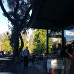 Coupa Cafe, looking west