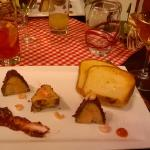 Foie Gras with shrimps, with fig compote
