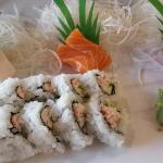 Extremely fresh sashimi and tasty California rolls! Lots of free samples and everything was cook