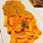 Pork Cutlet with Spicy Carbonara