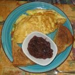 """the """"Popeye"""" spinach omelet"""