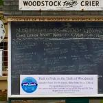 Woodstock Town Crier board