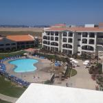 From terrace overlooking the pool