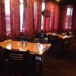 Very cool circular ring dining room