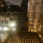 view from room.  note fire escape outside.