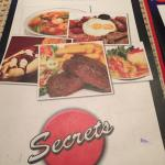 Menu at Secrets