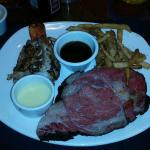 Herb Roasted Prime Rib and Lobster