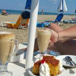 Coffee on the beach in front of the hotel