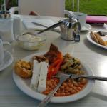 Typical hotel breakfast - you can add yoghurt, cake, egg, juice...