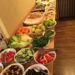 Breakfast buffet and tea