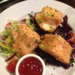 Deep Fried Camembert starter on bed of beetroot