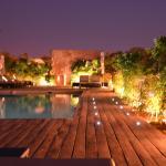 vue de la piscine en terrasse