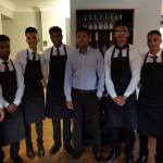 The front of house team at the Indian lounge