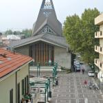 The central village square of Viserba, opposite to the hotel