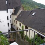 Ausblick vom Balkon des Schieferzimmers Richtung Mosel