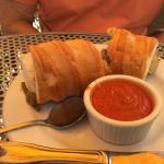 Italian sausage sandwich with marina