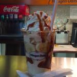 The delicious dulce de leche sundae