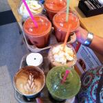 our pure fruit smoothies, lattes, and iced fraps