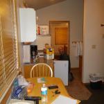 Kitchen looking towards bedroom