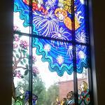 decorated glass window
