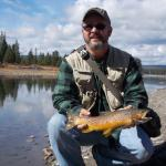 Brown at Snake River access just south of Flagg Ranch in Teton