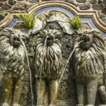 Casa Tres Leones entrance fountain