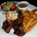 Awesome Steak, Prawns & Cider