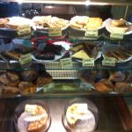 Large scones and lovely selection of cakes