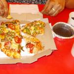 Pizza Veg Spicy Regular Coke Lava Cake Rs 585