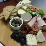 The windmill deli board. Roast and cured meats, chicken liver pate, Yorkshire cheeses, homemade